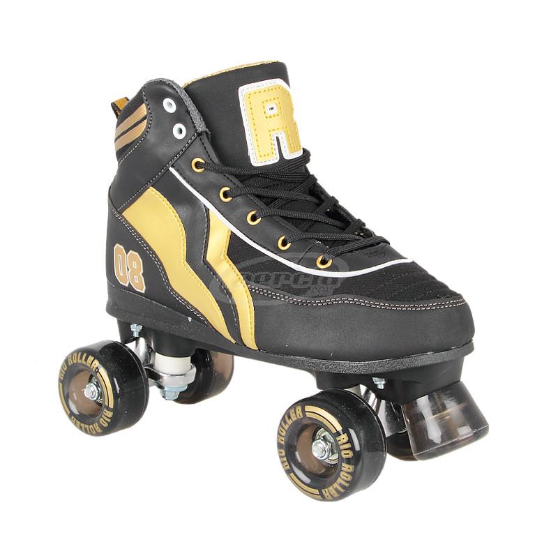 quad rio roller varsity black gold l patines quad adulto. Black Bedroom Furniture Sets. Home Design Ideas