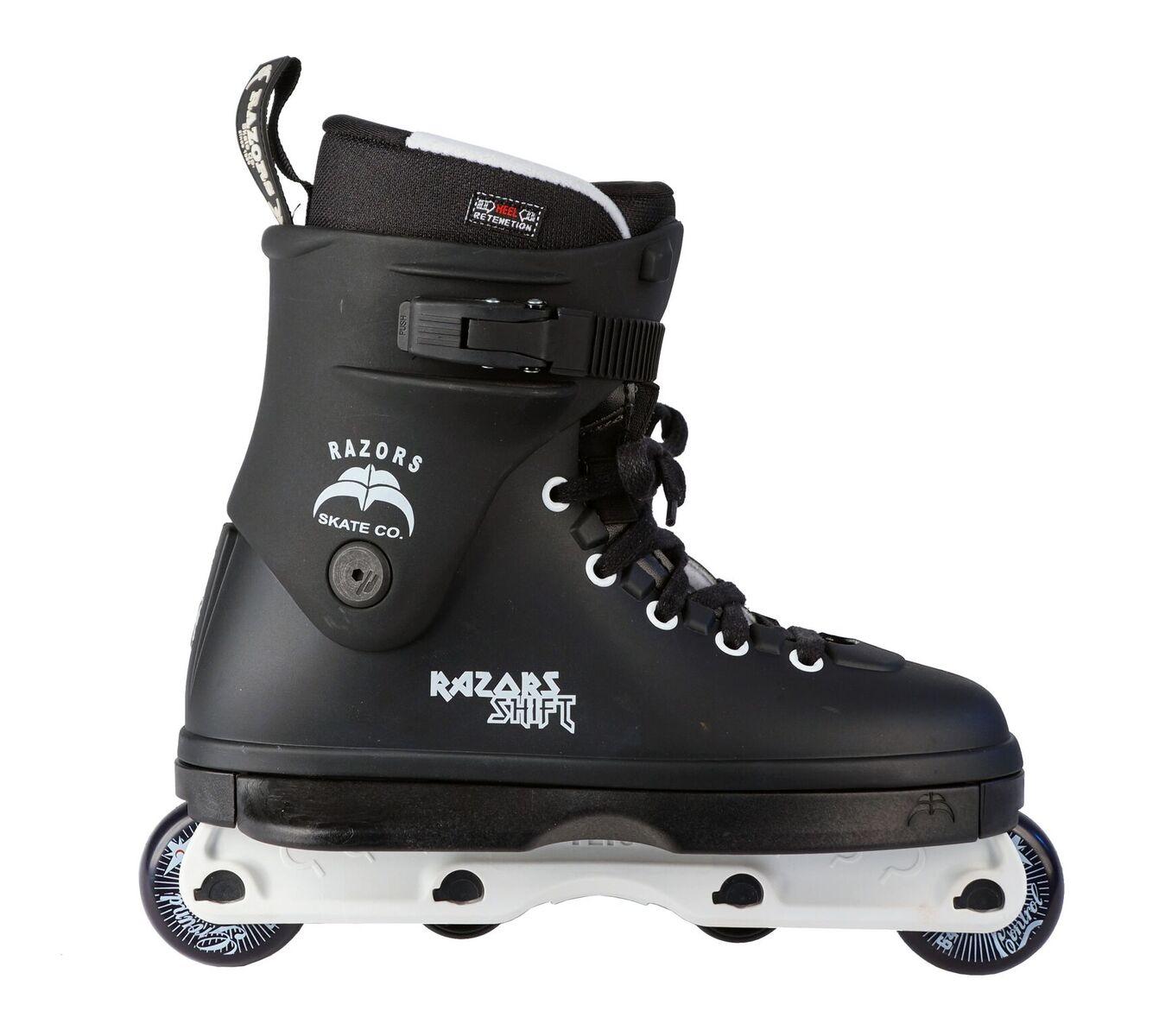 Aggressive Freestyle Inline Skates Rollerblades 11 Razors Shift Negro